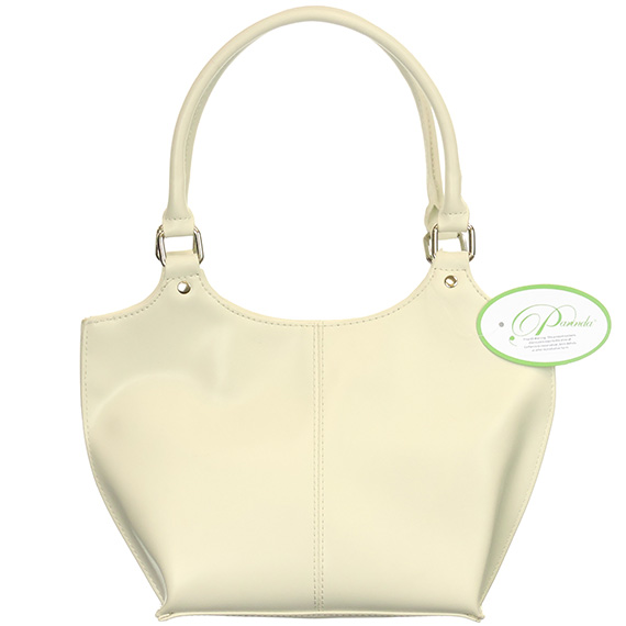 Handbag Parinda Large Faux Leather Caterina White