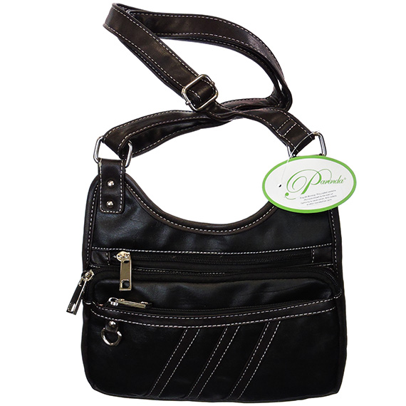 Bag Crossbody Parinda Pebble Faux Leather Gianna Black