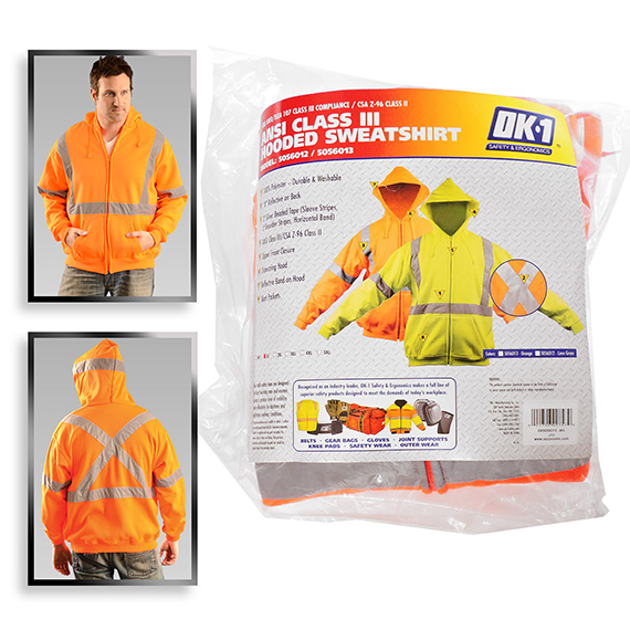 Sweatshirts X-Large Hi Vis Orange Class 3