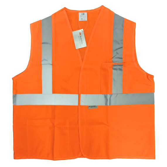 Vest Safety Class 2 Orange Polyester Large