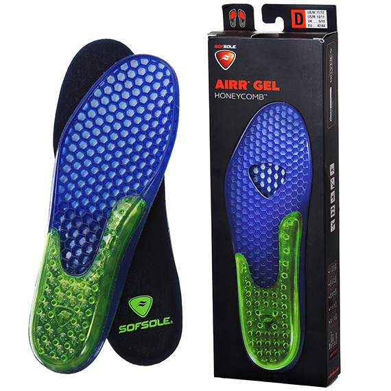 Shoe Insole Airr Gel Honeycomb Large Sz 11 - 12