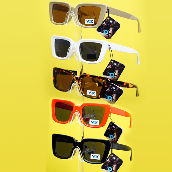 Mod Square Frame Sunglasses - Assorted Colors
