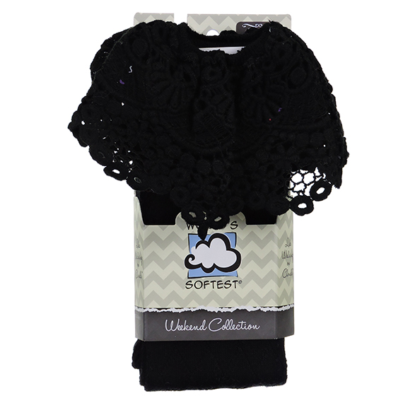 Wssasykh Os Black Knee High Lace Top Sock