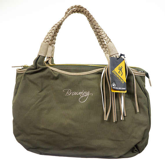 Handbag - Browning Conceal-N-Carry - Canvas - Olive/Tan