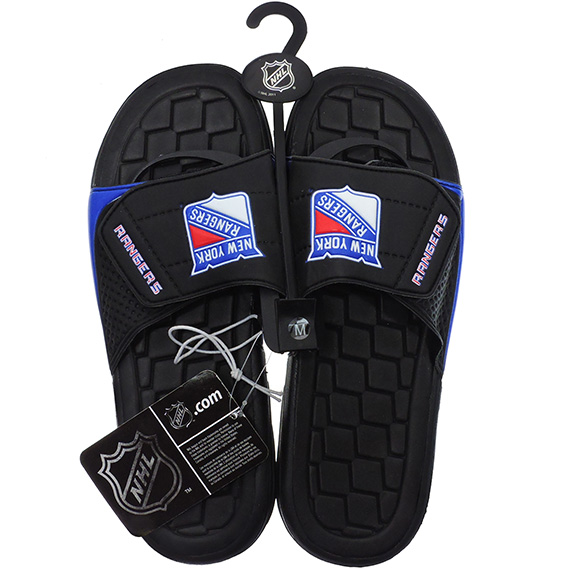 Sandals NHL Hockey Rangers Asst Sizes