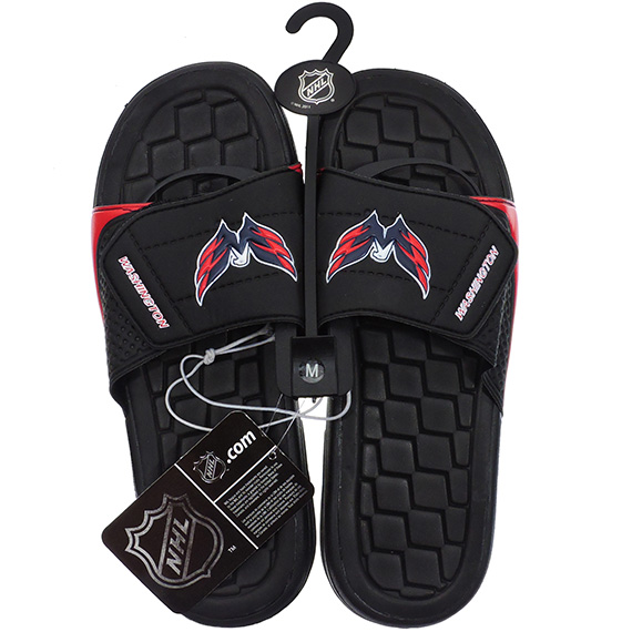 Sandals NHL Hockey Capitals Asst Sizes