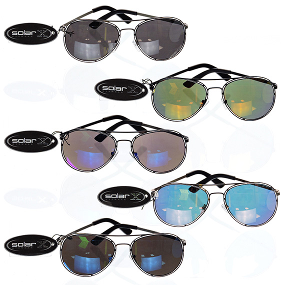 Avaitor Glasses Assorted Frames Tinted Colored Lens - 5 Asst
