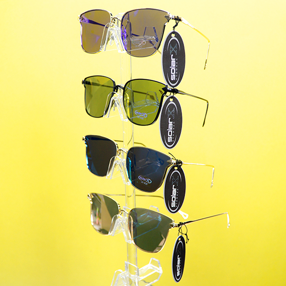 Clear Optix Sunglasses - Wire Frames - Asst Tints