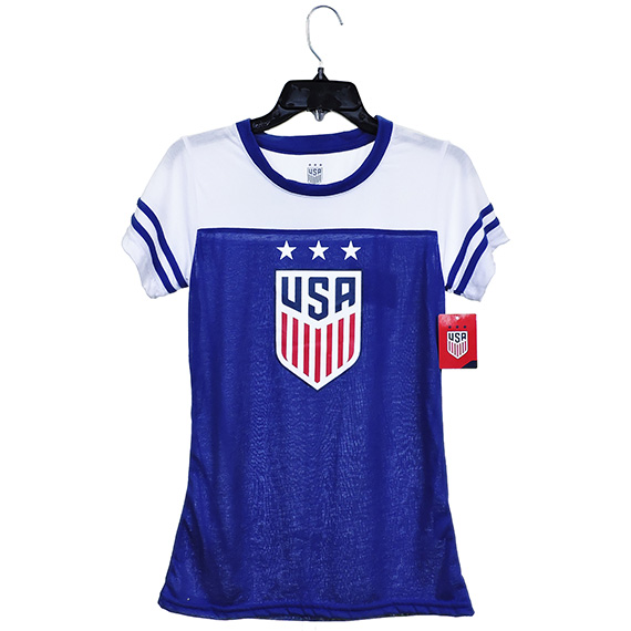 US Soccer Womens Tee Polyester -Rayon 152G Blue S/M/L/XL