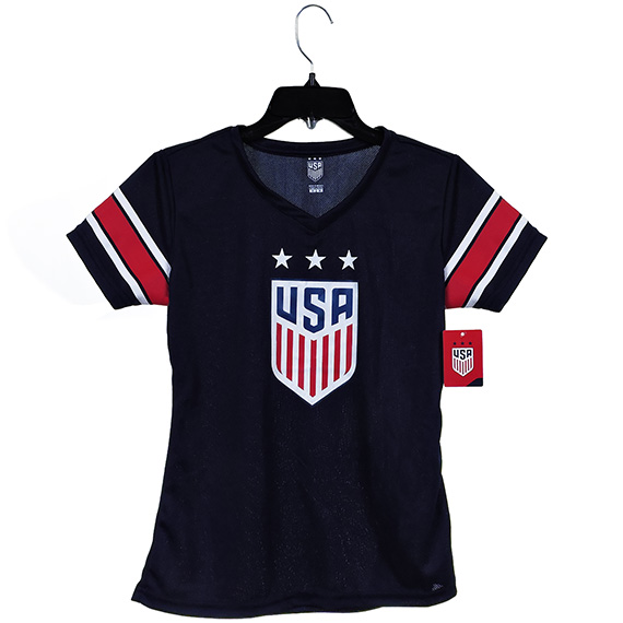 US Soccer Womens Jersey Polyester Mesh 135 G Navy S/M/L/XL
