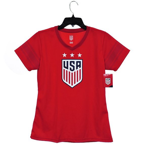 US Soccer Womens Jersey Polyester Mesh 135 G Red S/M/L/XL