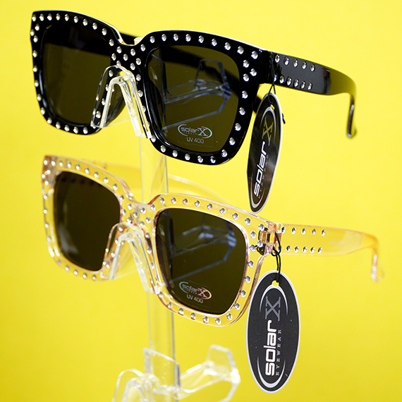 Women's Sunglasses w/Frame Embellishments - Assorted Colors