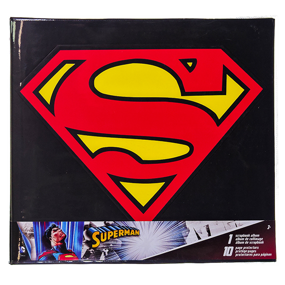 Superman 12 X 12 Scrapbook Album - 10 Pg Protectors Ages 3+