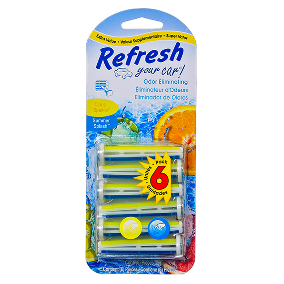 Refresh Auto Vent Freshner 6Pk Citrus-Summer - Trilingual