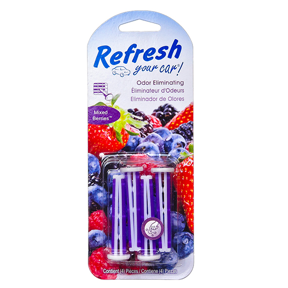 Refresh Auto Vent Stick 4Pk Mixed Berries Trilingual