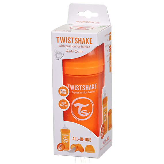 Twistshake Anti-Colic 260Ml - 8Oz Orange