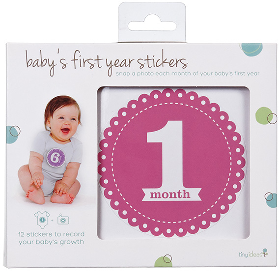 Pearhead Babys First Year Stickers Girl Colors 12Pk