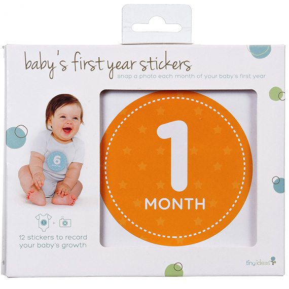 Pearhead Babys First Year Stickers Neutral Colors 12Pk