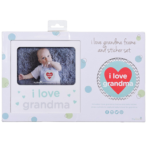 Pearhead I Love Grandma Frame and Sticker Set