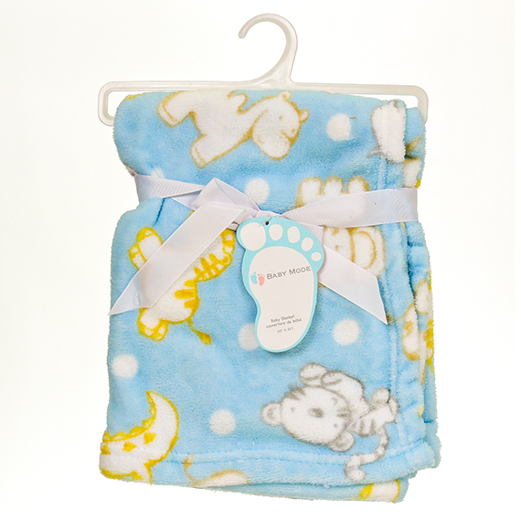 Baby Mode Aop Blanket Blue 30