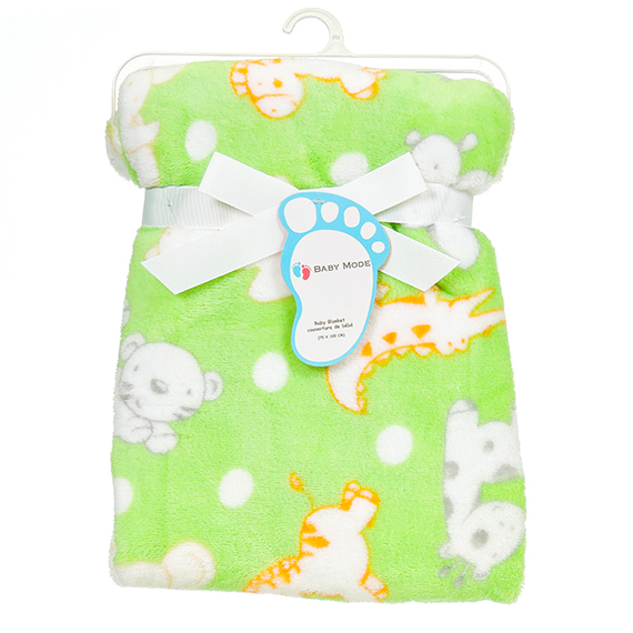 Baby Mode Aop Blanket Green 30