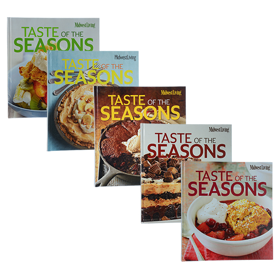 Midwest Living Taste Of The Seasons Cookbook Assortment Of 5