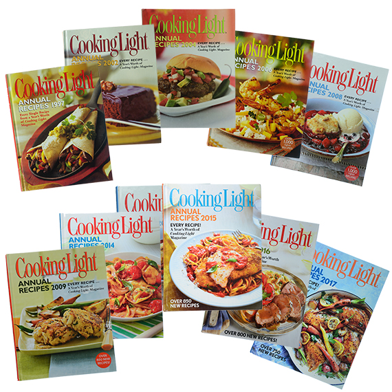 Cooking Light Annual Recipes Cookbook Assortment Of 11