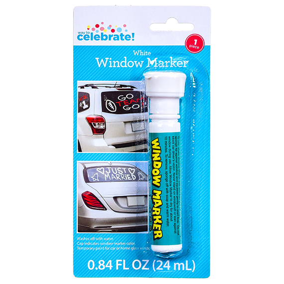 White Window Marker - Washes Off With Water