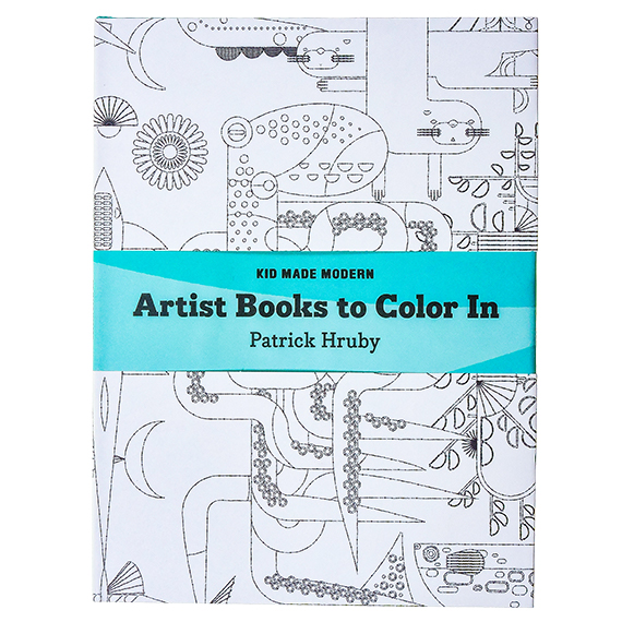 Artist Books to Color-In Book: Patrick Hruby