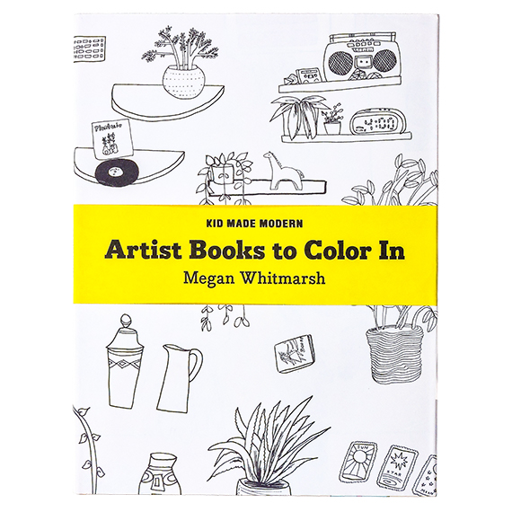 Artist Books to Color-In Book: Megan Whitmarsh