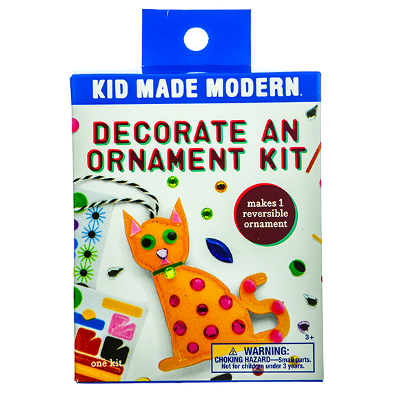 Decorate An Ornament Kit-3 Asst - Cat, Robot, Ice Cream Cone