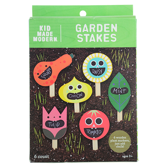Garden Stakes - Vegetables 6 wooden plant markers