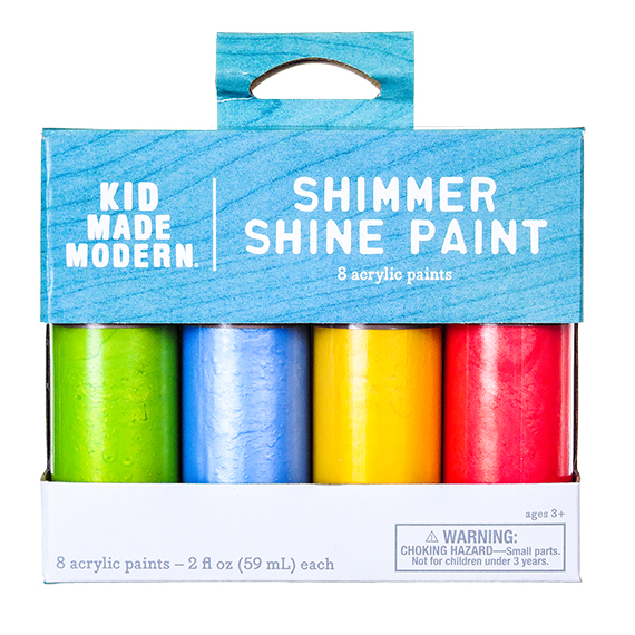 Shimmer Shine Paints - Box with 8 Asst Acrylic Paints