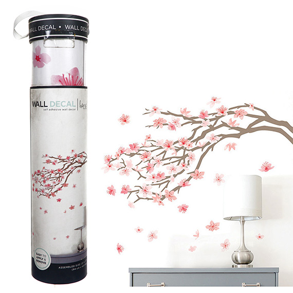 Cherry Blossoms Decal Self-Adhesive Wall Art 37x17