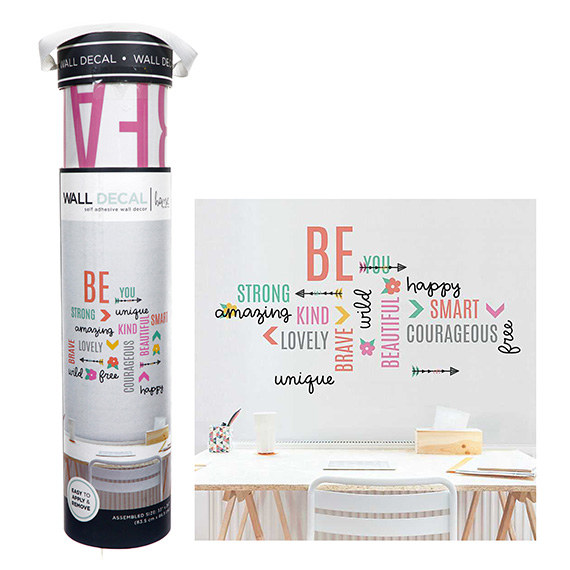Be Word Collage Decal Self-Adhesive Wall Art 33x34