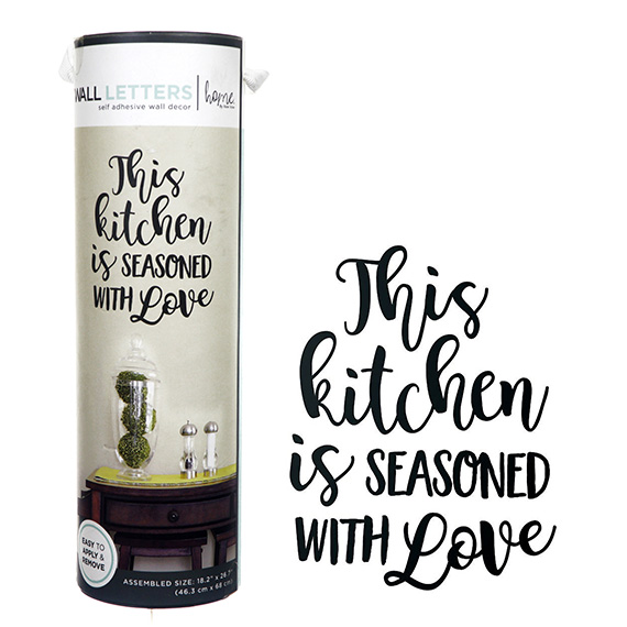 This Kitchen Is Seasoned With Love Decal Self-Adhesive Art 18x27