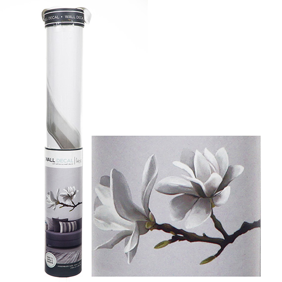 White Magnolia Branch Decal Self-Adhesive Wall Art 50x35