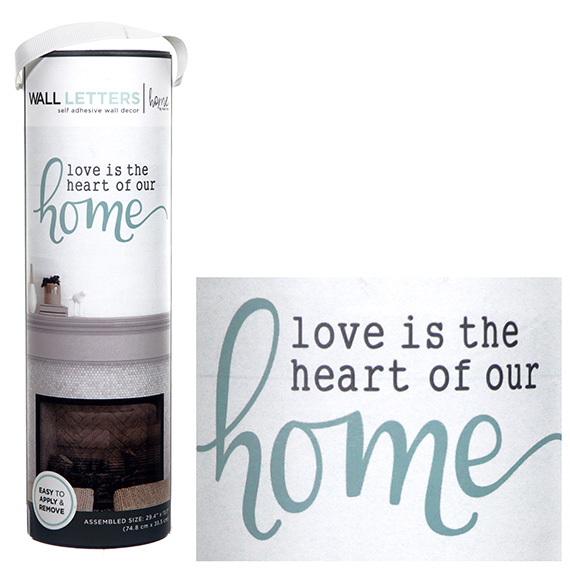 Love Is The Heart Of Our Home Decal Self-Adhesive Wall Art 29x15