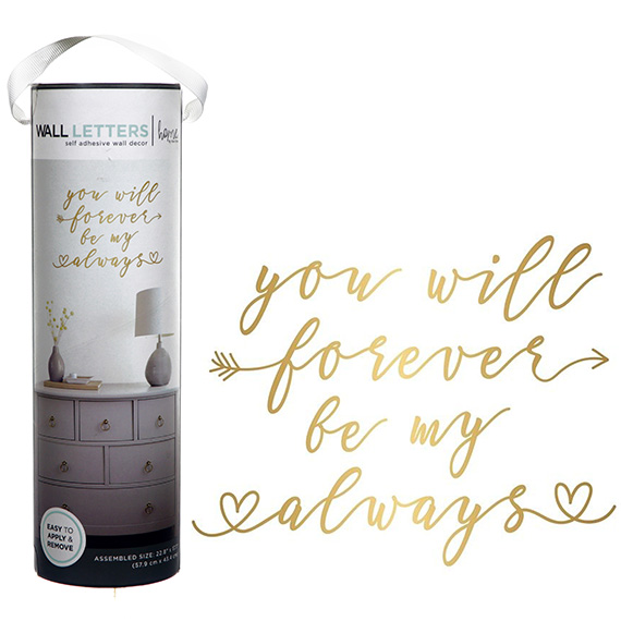You Will Forever Be My Always Decal Self-Adhesive Wall Art 23x17