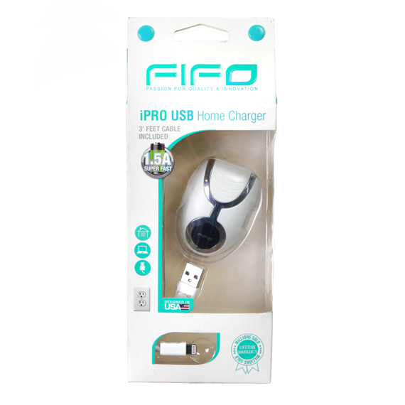 iPRO USB Home Charger with 3 Ft Cable