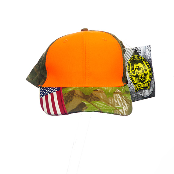 Flag Accented Ball Cap Orange