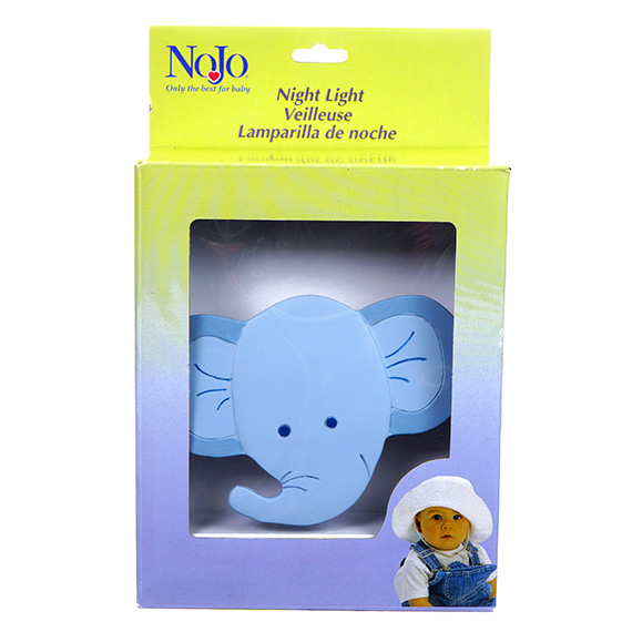 Light Blue Elephant-shaped Night Light for Baby Nursery