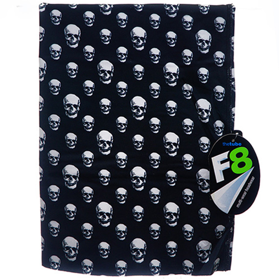 Polyester Fleece Neck Buff - Skull Print