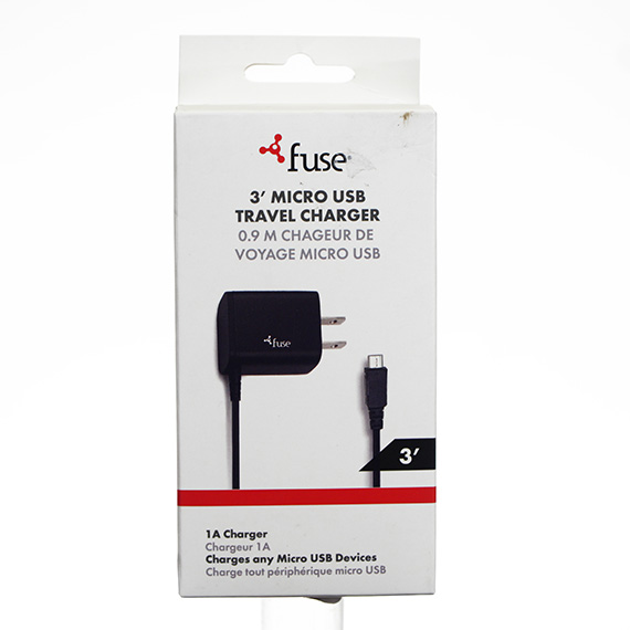 3 Ft Micro USB Travel Charger