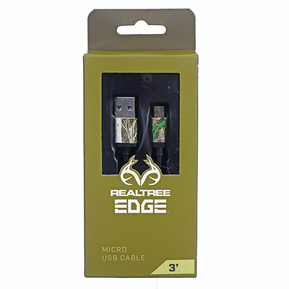 RealTree Edge 3 Ft Micro USB Cable