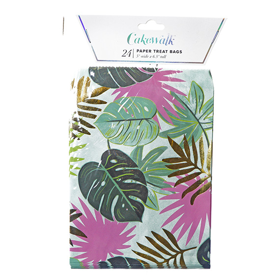 Monstera Paper Treat Bags - 24 Pc - 5