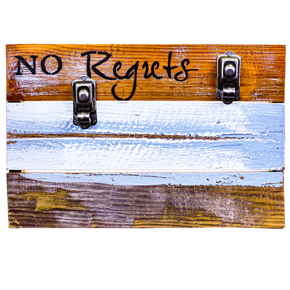 Repurposed-Reclaimed Wood Wall Décor-No Regrets 8