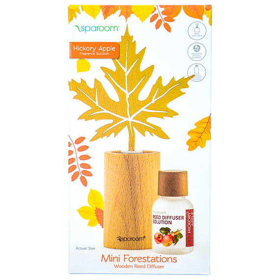 Mini Forestations Wooden Reed Diffuser - Hickory Apple Scent