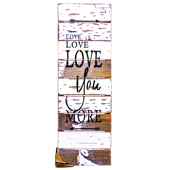 Repurposed-Reclaimed Wood Wall Décor-Love You More 18