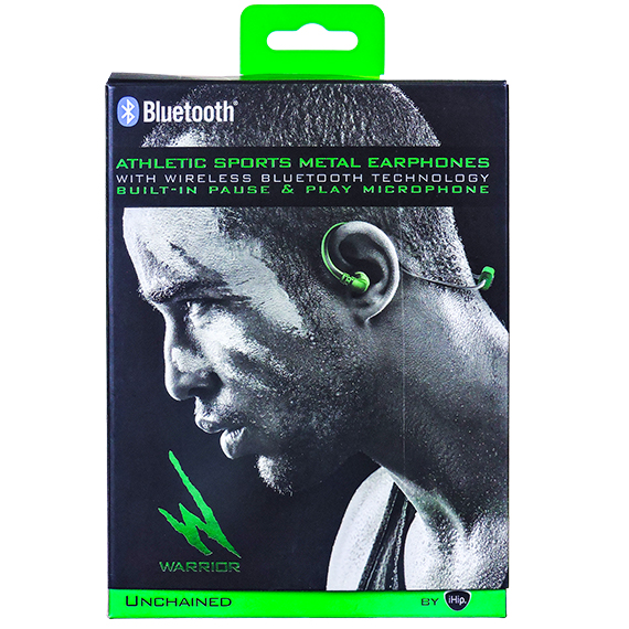 Athletic Sports Metal Earphones w/BT & Built-In Microphone